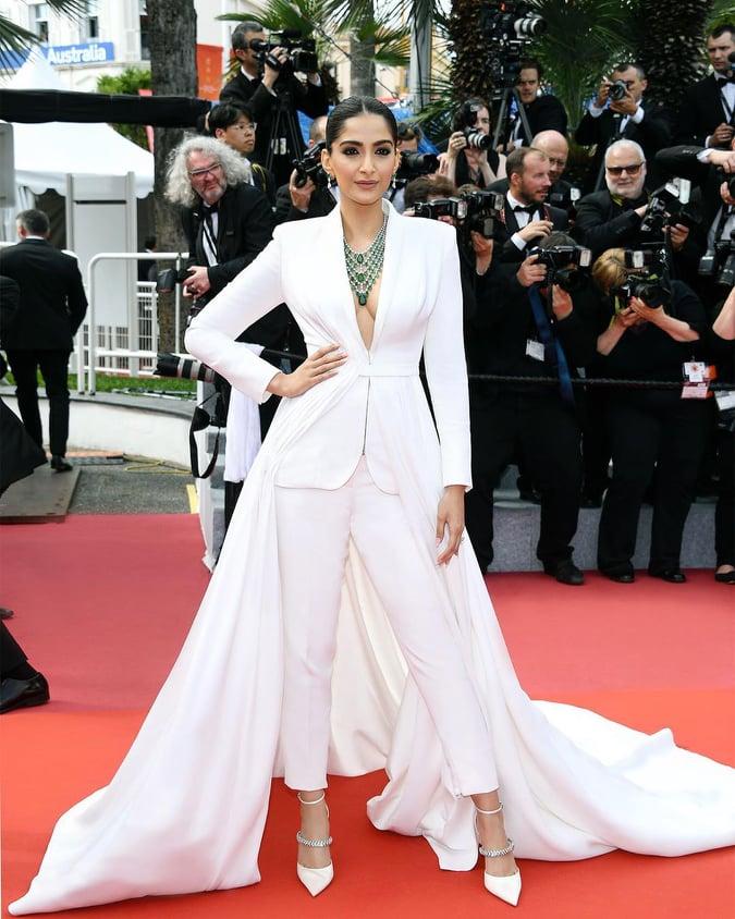 Sonam Kapoor in White dress