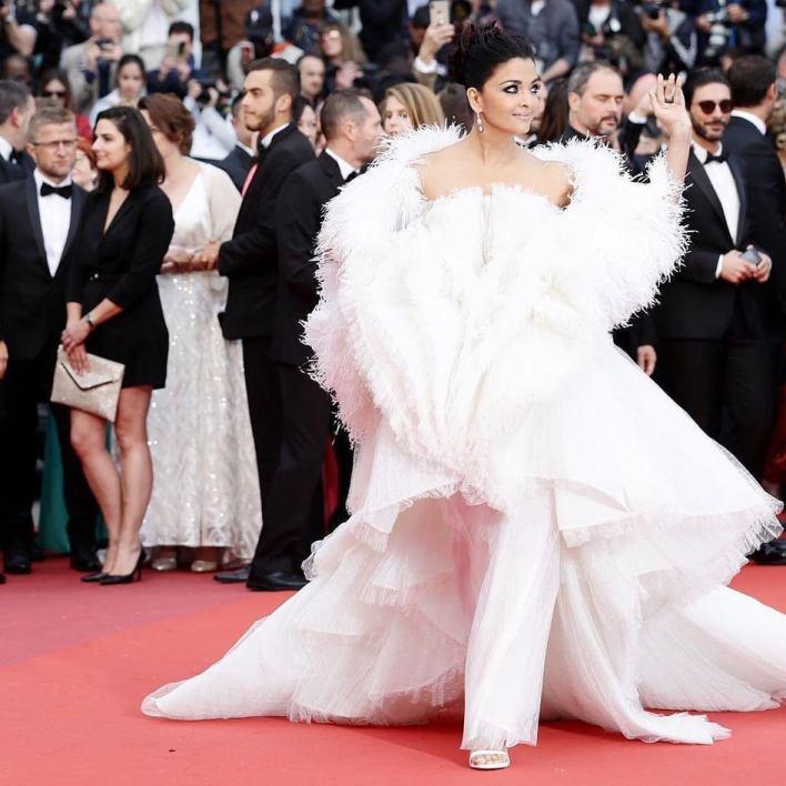 aishwarya rai in white gown