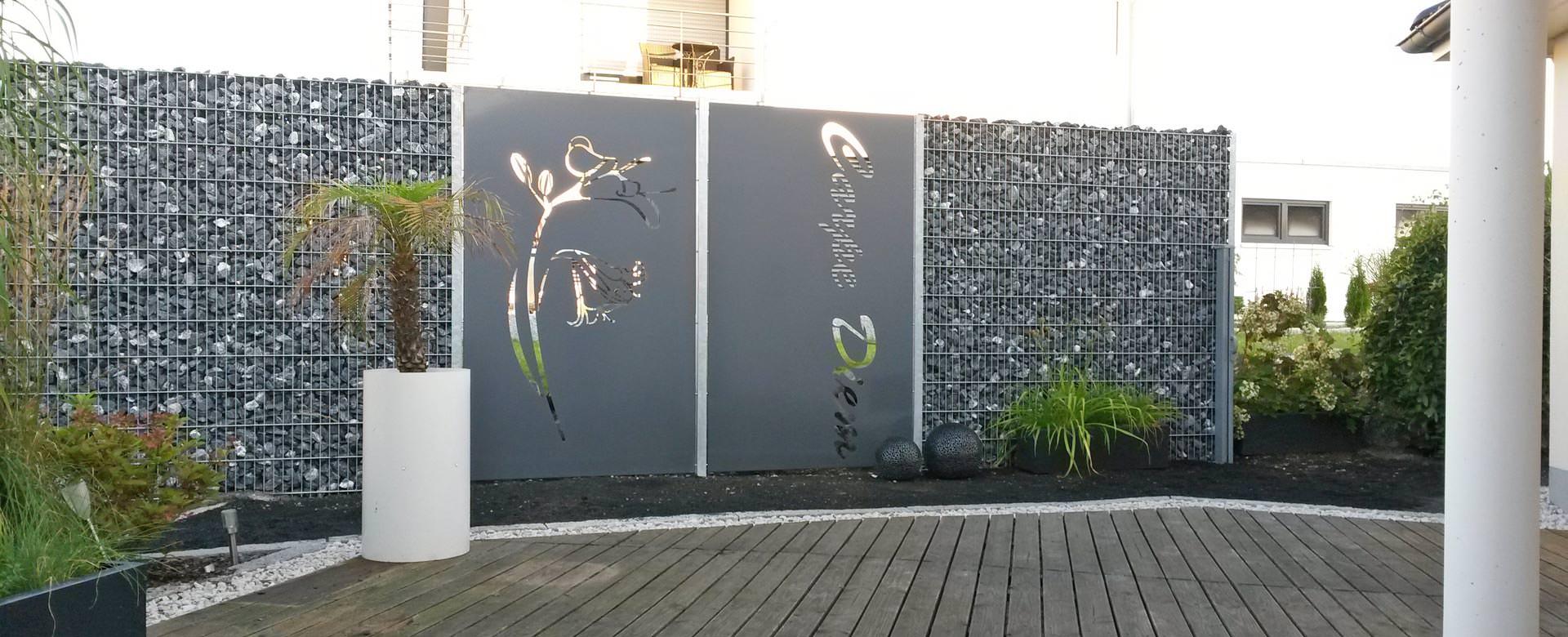 Terrassen Sichtschutz Deko Varianten