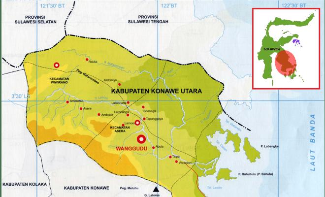 TIKTAK.ID - Peta Lokasi Desa Fiktif, Desa Tanggondipo, Konawe, Sulawesi Tenggara