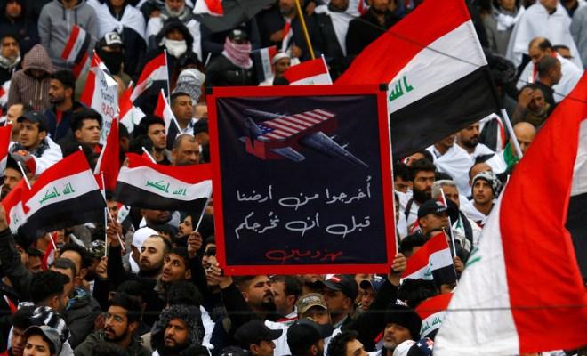 Demonstrasi Irak Keluarkan AS