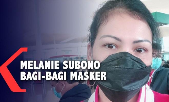 Aksi Solidaritas Cegah Corona, Melanie Subono Bagi-bagi Masker dan Handsanitizer Gratis untuk Warga