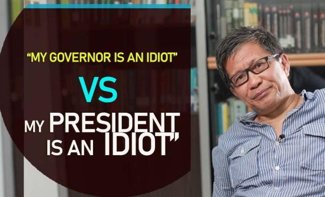 Rocky Gerung Tertawa Bahas Meme yang Sebut Jokowi dan Anies Baswedan Idiot