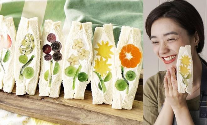 Resep Sandwich Buah Khas Jepang Berbentuk Bunga