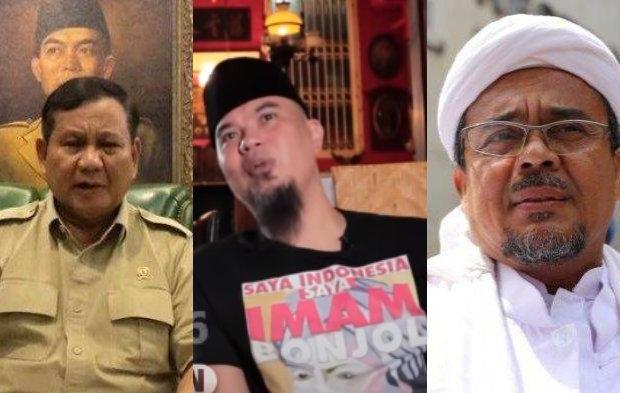 Bingung Ditanya: Pilih Prabowo atau Habib Rizieq, Begini Jurus 'Ngeles' Ahmad Dhani