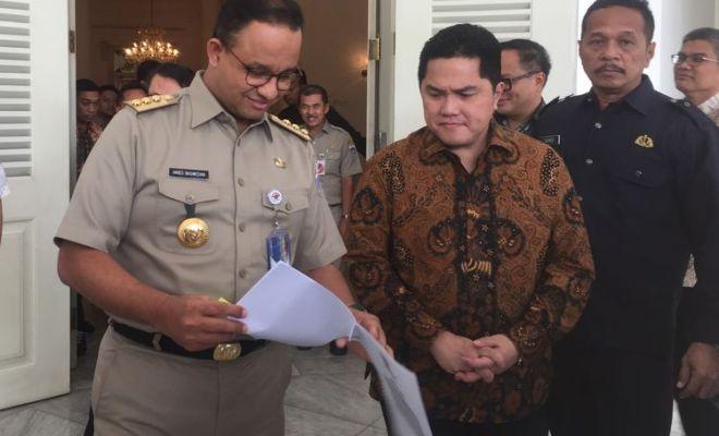 Inilah Mimpi Jokowi yang Diwujudkan Duet Anies-Erick di DKI