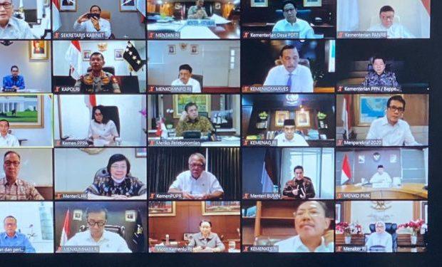 Rapat Kabinet Kembali Virtual Usai Jokowi Ketemu Wakil Wali Kota Solo yang Positif Covid-19