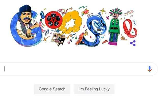 Legenda Betawi Benyamin Sueb Nongol di Doodle Google Bareng Ondel-ondel dan Kompor Meleduk