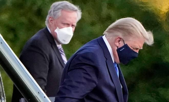 Alami Demam Usai Divonis Positif Corona, Trump Diterbangkan ke Rumah Sakit Militer