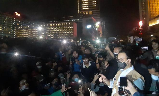 Tak Diberi Kesempatan Bicara, Anies Urung Sampaikan Aspirasi Massa ke Jokowi