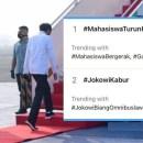 Tagar #JokowiKabur Trending Saat Mahasiswa Demo di Istana, Ternyata Gara-gara Ini
