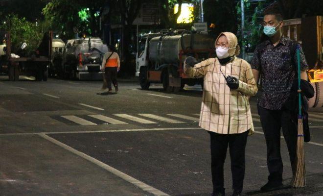 Risma Ngamuk ke Pendemo: Saya Setengah Mati Bangun Kota ini, Kamu yang Hancurin