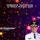 Anies Terpilih Jadi 'Gubernur Terpopuler Media Digital 2020'