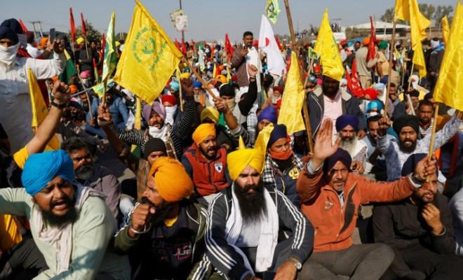 Demo Ribuan Petani India Protes UU Pertanian yang Lebih Memihak Perusahaan Besar