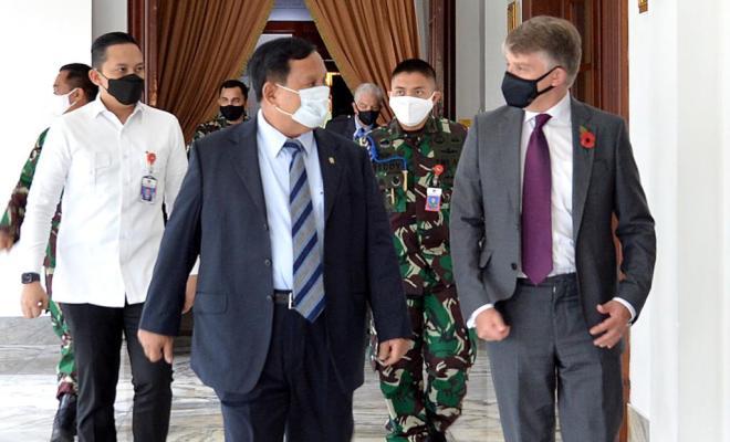 Dubes Inggris dan Dubes AS untuk RI Temui Menhan Prabowo, Ada Apa?