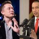 Jokowi Rayu Elon Musk Luncurkan SpaceX di Indonesia