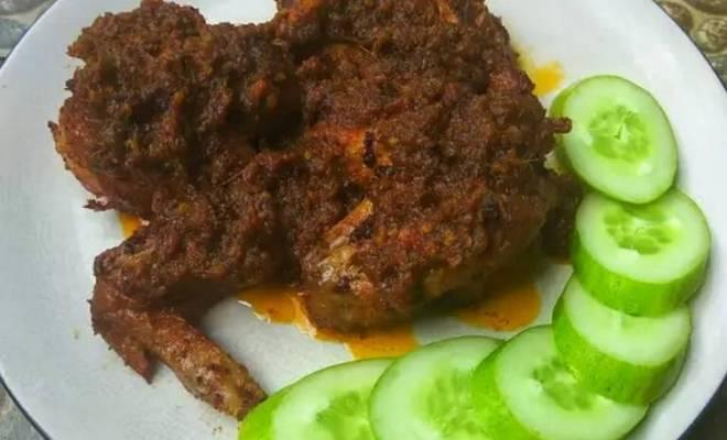 Resep Ayam Bumbu Hitam Madura