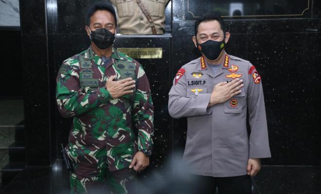 Kapolri Jenderal Listyo Sigit Prabowo Kunjungi KSAD Jenderal TNI Andika Perkasa