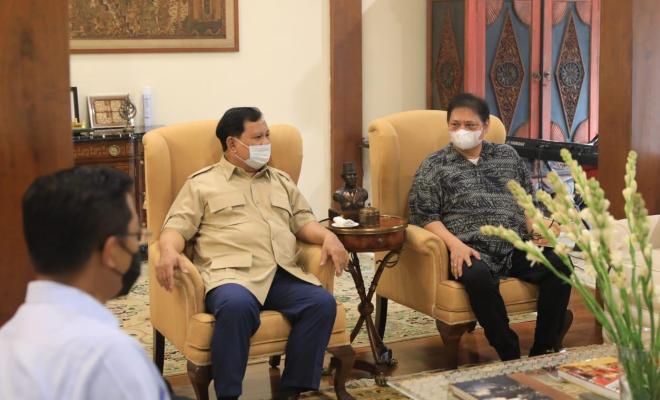 Airlangga Temui Prabowo, Bahas Pilpres 2024?