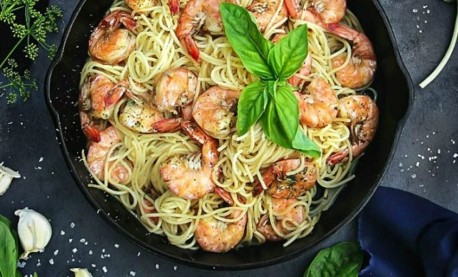 Begini Cara Membuat Spaghetti Aglio e Olio Udang ala Restoran dengan Cita Rasa Gurih Pedas