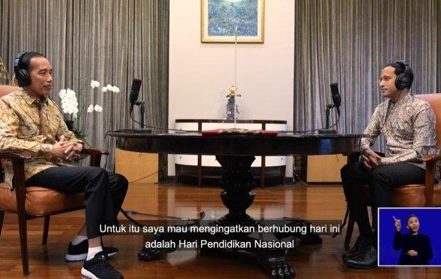 Jokowi Tanyakan Terobosan Nadiem Selama Jadi Menteri