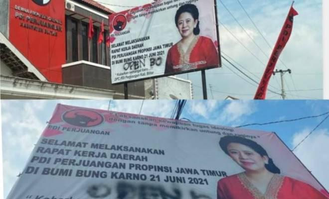 PDIP Lapor Polisi Usai Heboh Coretan 'Open BO' di Baliho Puan