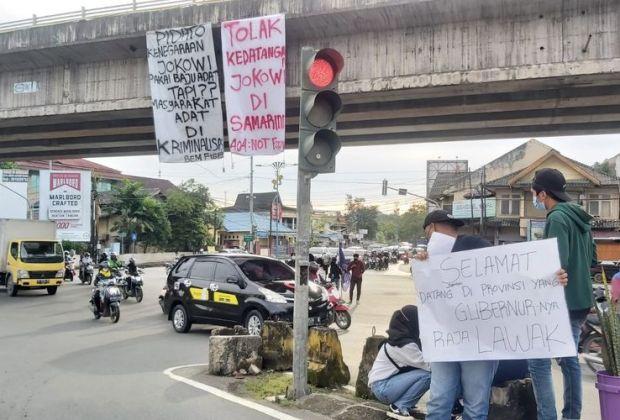 Protes Penanganan Pandemi, Independensi KPK hingga UU Cipta Kerja, Aliansi Mahasiswa Kaltim Tolak Kedatangan Jokowi