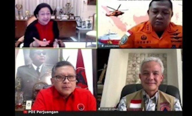 Respons Ganjar Saat Disentil Megawati di Acara PDIP