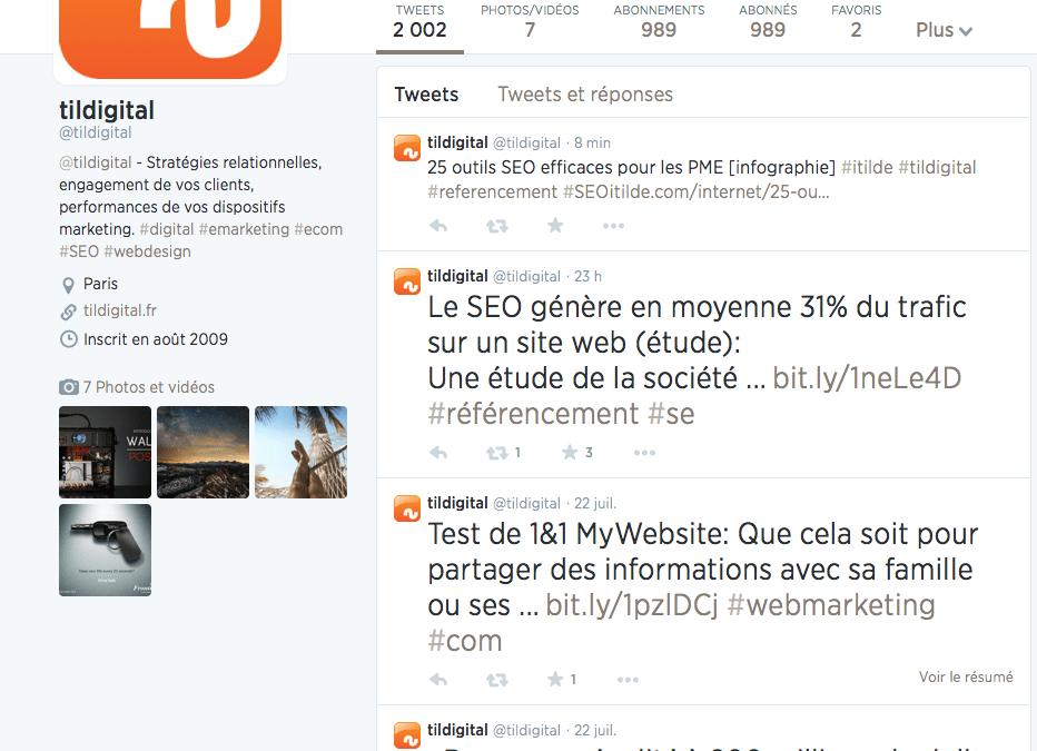 2000 tweets pour tildigital
