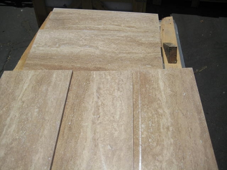 Rustico Vein Cut 12x24 Polished  Filled Travertine Tile