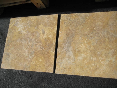 Sienna Gold 18x18 Filled Honed Travertine