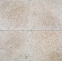 Cafe Light 6x6 Tumbled Travertine