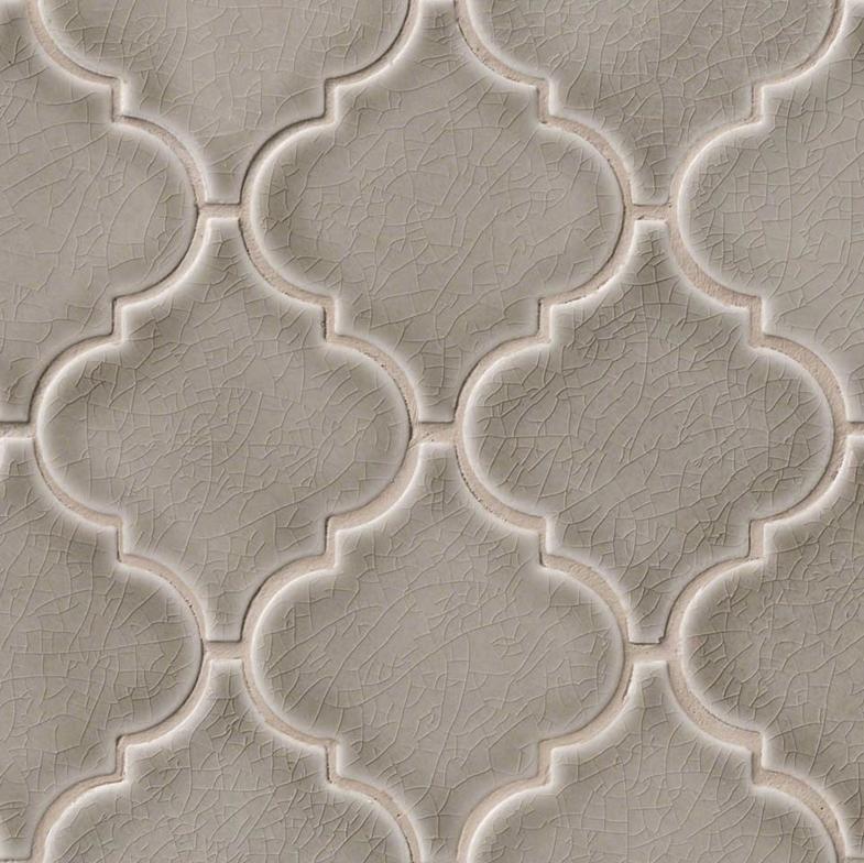 dove gray mosaic arabesque pattern