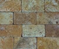 Golden Sienna Travertine Mosaic   3x6