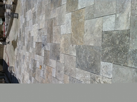 Silver Travertine 1 14 3cm Versailles Pattern Tumbled