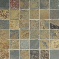 Butterscotch Slate | Mosaic | 2x2 | Tumbled