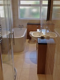 Long Narrow Bathroom Design - Earley - Tile And Bathroom Place