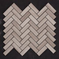 Grey Travertine Honed Herringbone  VM58  Tile & Stone ...