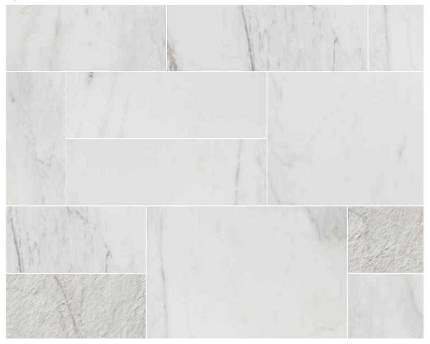 Atlantis Marble  WHITE  Tile  Stone Gallery