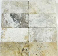 Travertine Albertino Tumbled Subway  Tile & Stone Gallery