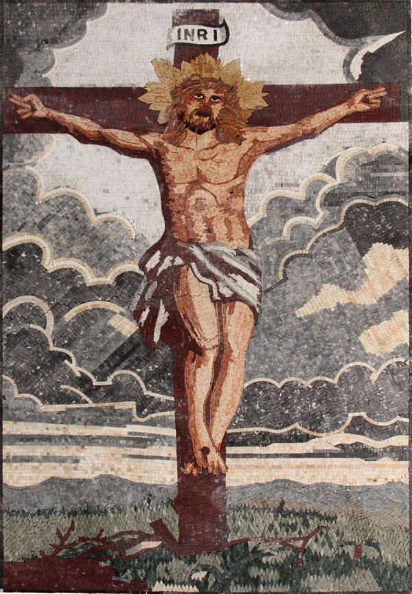 Jesus On the Cross Mosaic