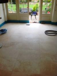 Travertine Tiled Floor Stripped and Polished in Great ...