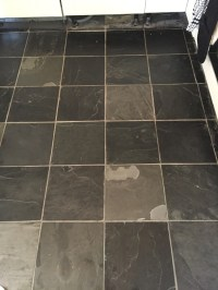 Dull Slate Tiled Kitchen Floor Refreshed in Oxford | Tile ...