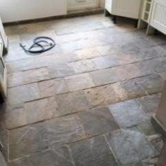 Slate Kitchen Floor Melissa & Doug Restoring A Poorly Sealed Tiled In Milton Keynes Before Cleaning