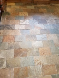 Refreshing Dull Slate Kitchen Floor Tiles in Ticknall
