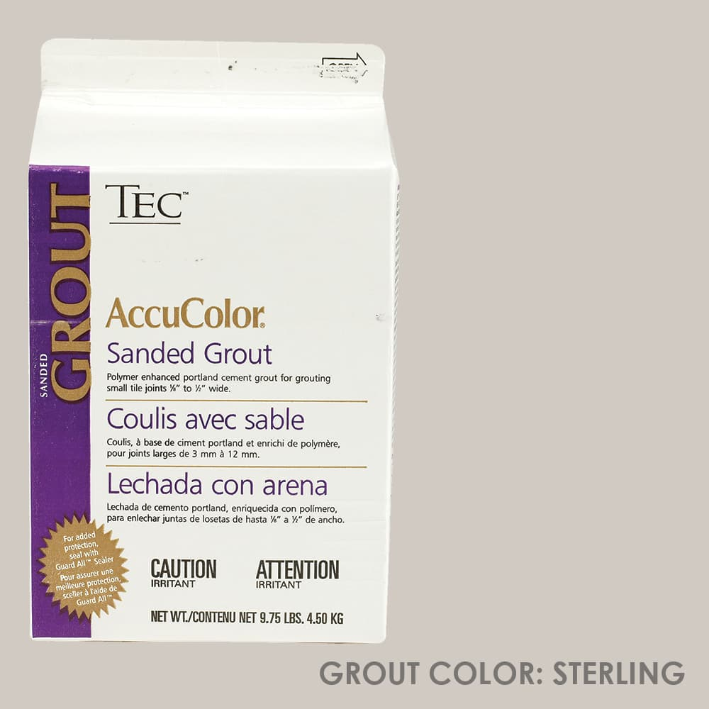 tec sanded grout sterling 9 75lb code ta650909f10 ta6