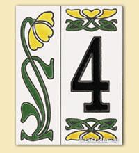 ceramic tiles house numbers fine art ceramics art collectibles