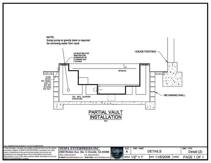 house plumbing diagram rf modulator hookup spa lip transitions - nespa tiled spas