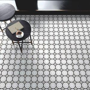 Patch Work Black & White 05 Pattern Tile
