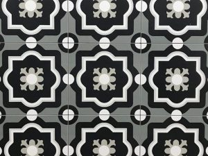 Patch Work Black & White 04 Pattern Tile